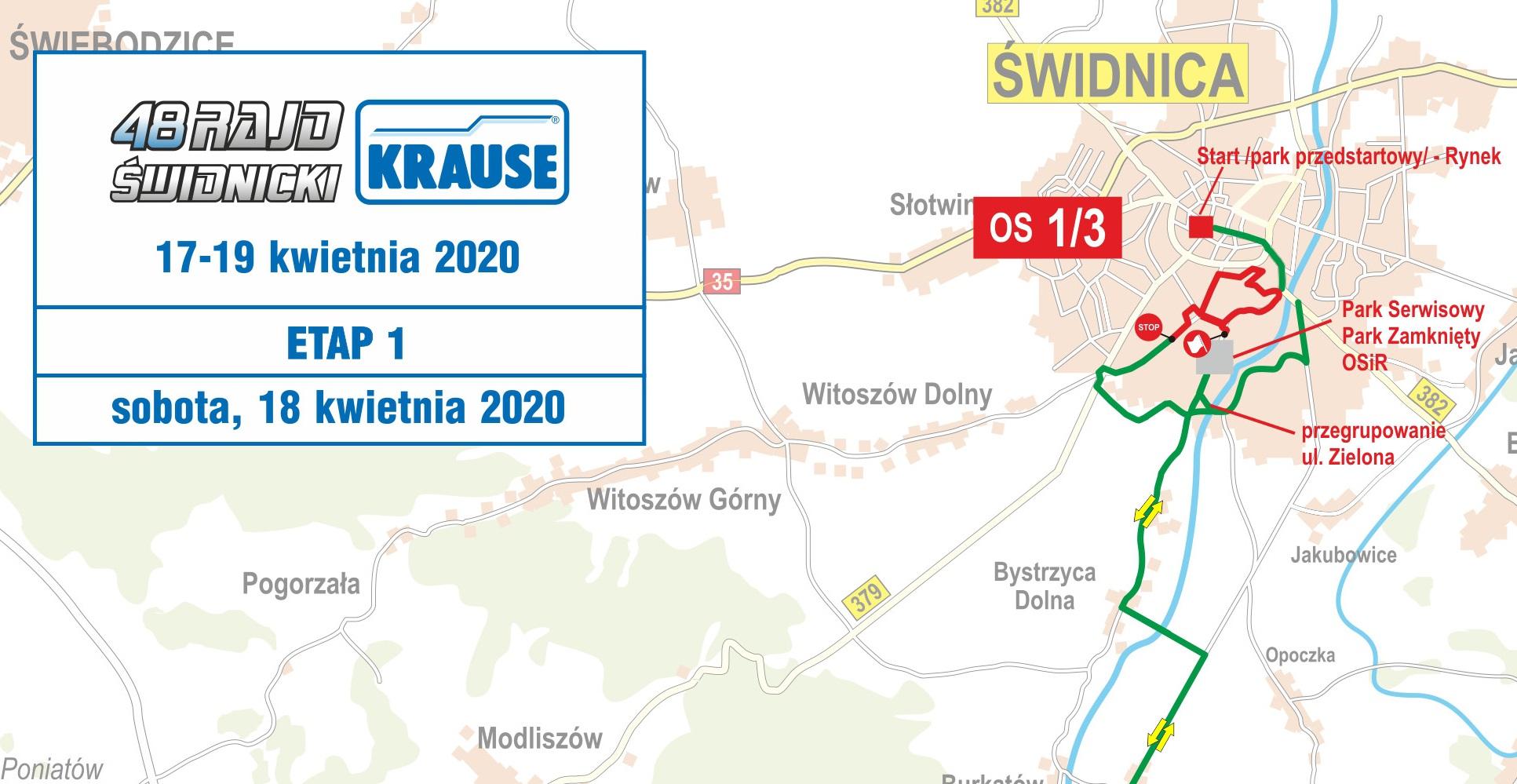 Mapy 48. Rajdu Świdnickiego – KRAUSE 2020